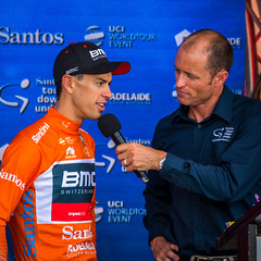 Tour Winner Richie Porte is Interviewd by Dave McKenzie (Serendigity) Tags: stage6 tourdownunder 2017 australia race sa southaustralia adelaide tdu cycling event
