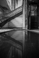 ups and downs (António Alfarroba) Tags: ruina ruin barreiro portugal reflection reflexo mirror espelho escada stair