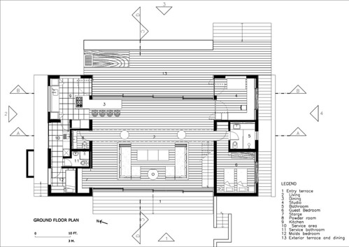 House Iporanga Ground Floor plan