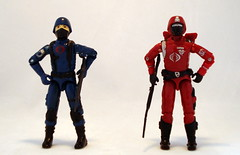 Cobra Soldier & Crimson Guard (SuperiorRAW) Tags: gijoe toys cobra ebay action auction military lot figures