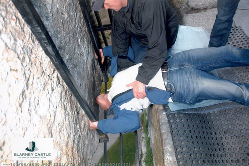 Jeff Kisses the Blarney Stone