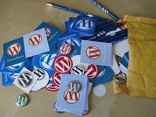 WordPress stickers & badges