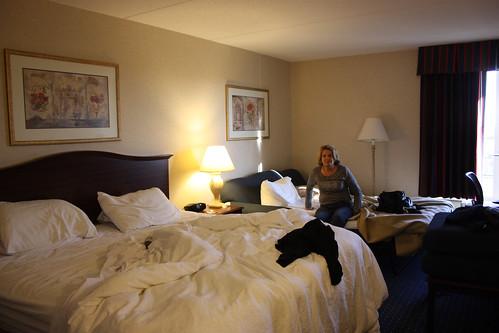 The room at the Hampton Inn