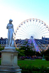 /// PARIS /// the tuleries and carnival, with a statue stopping the ferris wheel.