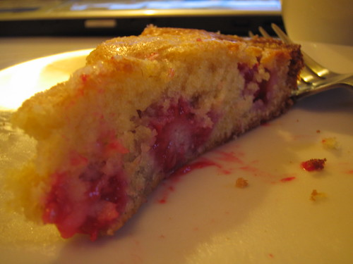 Raspberry Buttermilk Cake Slice
