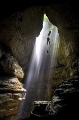 Into the Abyss (BamaCam) Tags: sunlight alabama explore cave caving rappel sunbeam cccp raysoflight realms lightofgod napg stephensgap brinabat bamacam