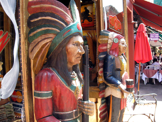 Cigar Store Indians (Click to enlarge)