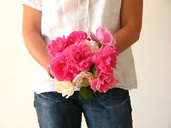 bouquet of homegrown organic roses (jilltbent) Tags: pink roses bouquet organic homegrown