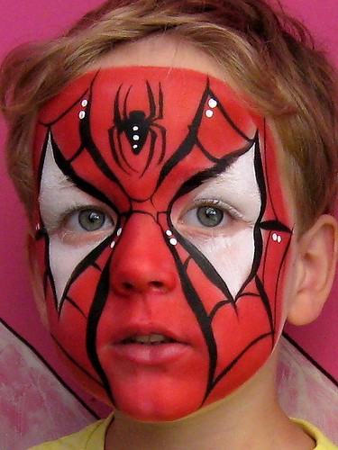 spiderman face painting por Lucid Arts Face Painting