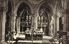 Rosslyn Chapel, Then Chancel (Cornell University Library) Tags: sculpture wroughtiron stainedglass books chapels altars grotesques corbels candelabras lecterns flutedcolumns chancels corn
