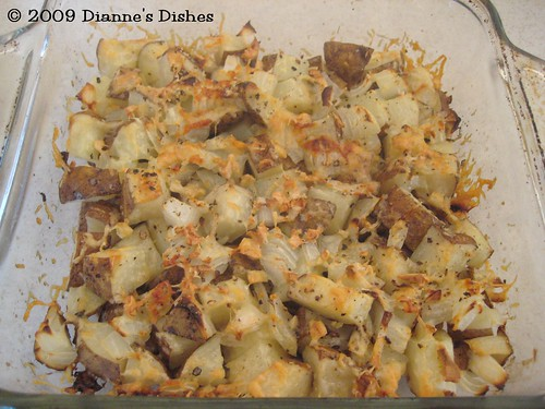 Parmesan and Onion Potatoes: Baked