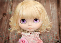 Purple Eyes (Skunkboy Creatures.) Tags: doll blythe custom saffy eyechips primadolly