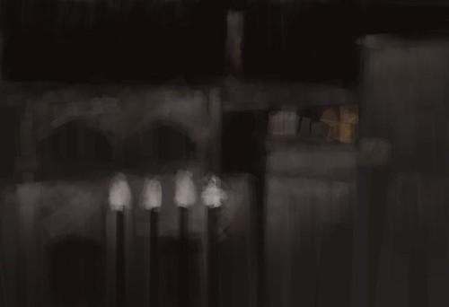GhentAtNightSketch