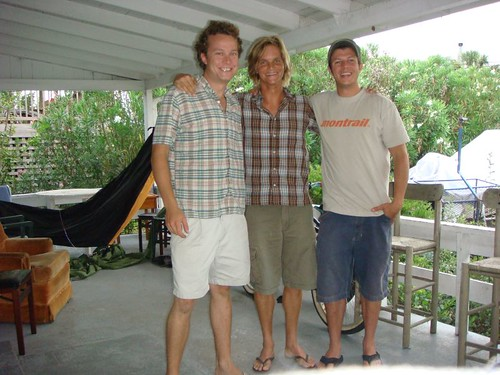 Robby, me, and Bryan at the beach house, Wrightsville Beach...