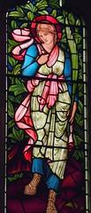 St Margaret of Antioch, Hatfield (robin.croft) Tags: church dragon pregnancy stainedglass margaret hatfield antioch anglican hertfordshire burnejones etheldreda morrisco