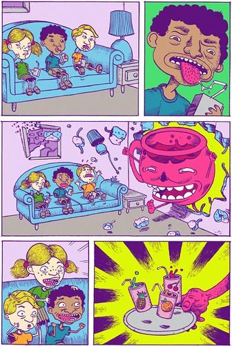 ¿A que parecen los Rugrats en el sofá de los Simpsons?
