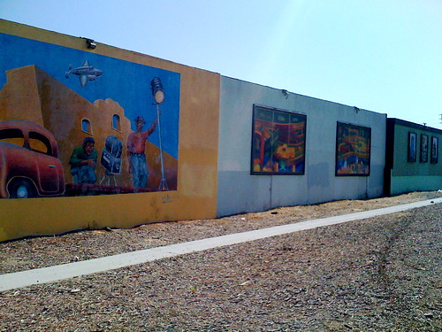 Murals on the walls