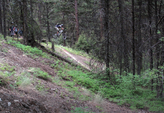 Mike sends it on the trail gap