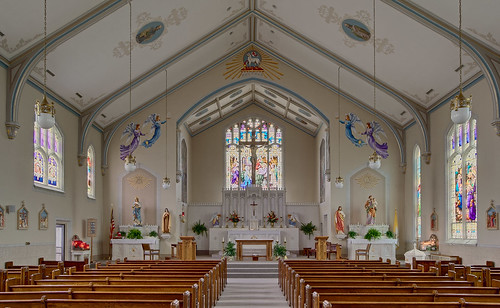Saint Joseph Roman Catholic Church, in Freeburg, Illinois, USA - nave