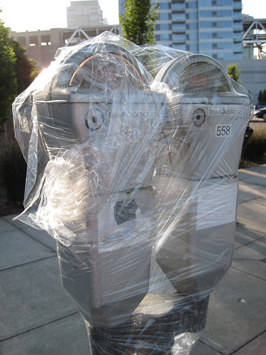 Wrapped Up Parking Meters