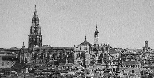 Catedral de Toledo en 1857. Foto de Charles Clifford