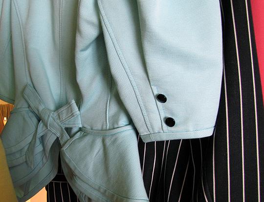 vintage-80s-Ungaro-blazers-teal-aqua-seafoam-stripes