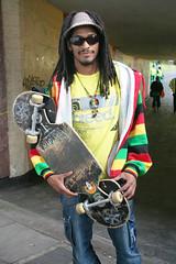 skateboard Rasta