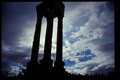 Columns of Anjar (Dmytro Zagrebelnyy) Tags: sky lebanon film clouds analog canon eos ancient ruins roman columns slide analogue umayyad 300x anjar canoneos300x eos300x