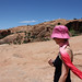 Anna Hiking the Delicate Arch Trail