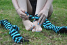 Socks Off! (Artistic Feet) Tags: blue woman black cute feet stockings girl yellow socks female fun outside outdoors toes long pretty legs skin artistic outdoor bare gorgeous emo goth smooth arches pale barefoot kawaii heels expressive stripey soles striped ankles