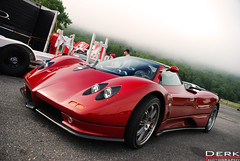 Pagani (Derek Walker Photo (Derk Photography)) Tags: park red car rock club america nikon track meeting s ferrari event exotic lime spotting zonda pagani derk d80