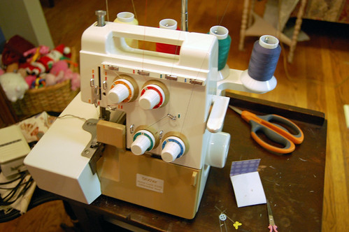 serger ready to go