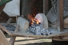 Feueresse vom Schmied in  Haithabu 19-07-2009