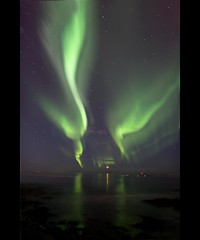 Dancers-Reykjavik - Iceland (Nöé) Tags: light night dark luces iceland islandia aurora northern northernlights borealis auroras auroraboreal nórdica nordicas lpdarkness noeliamagnusson wwwnoeliamagnussoncomnöénoemagnusson nöémagnusson