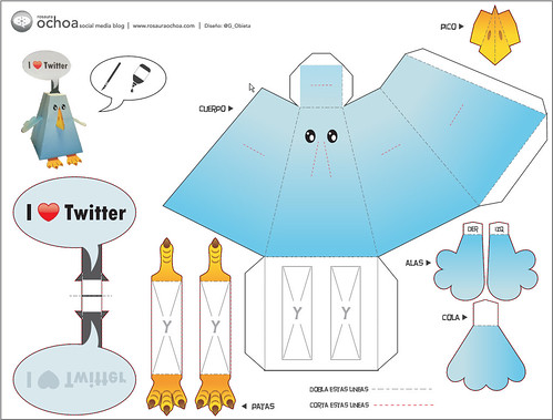 Twitter Bird - Paper Toy.  Rosaura Ochoa/Flickr