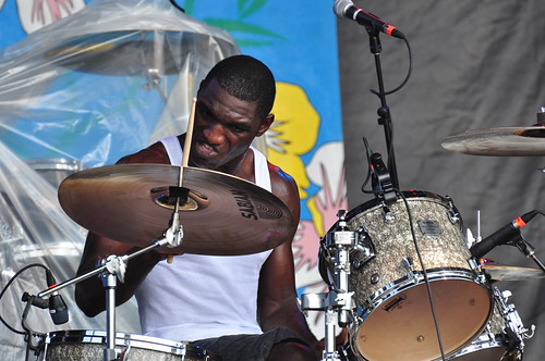Cedric Burnside and Lightnin' Malcolm at Ottawa Bluesfest 2009