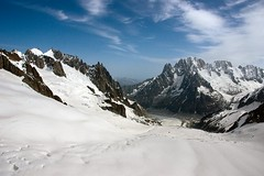 Look over the start of the Mer de Glace (ian.pletcher) Tags: france thealps chamonix montblanc merdeglace seaofice