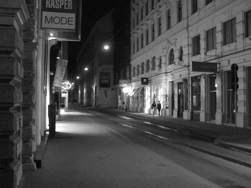 Hapsburgergasse at Night - Vienna