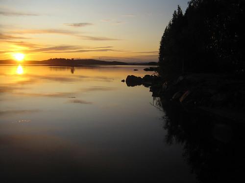 el lago (ocaso)