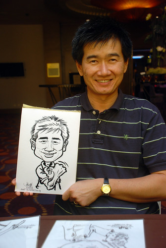 Caricature live sketching for Standard Chartered Bank - 20
