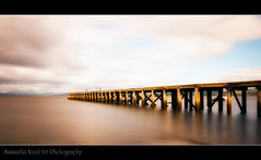 (Samantha Nicol Art Photography) Tags: longexposure sea sky water clouds port river scotland clyde pier wooden fishermen glasgow structure nd inverclyde 10x