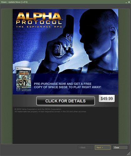 Alpha Protocol Special Promotion on Steam