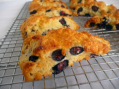 Blueberry-Buttermilk Scones (Brown Eyed Baker) Tags: breakfast dessert scones recipes blueberries buttermilk