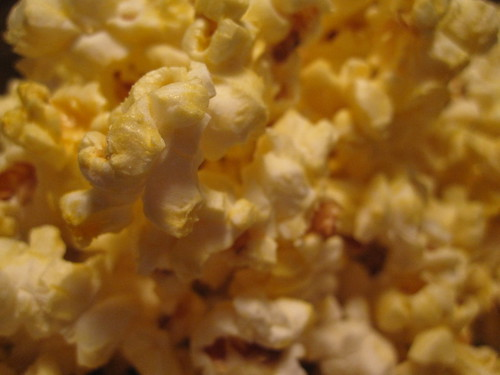 bit of popcorn as a late night snack