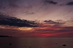 神威岬の夕焼け