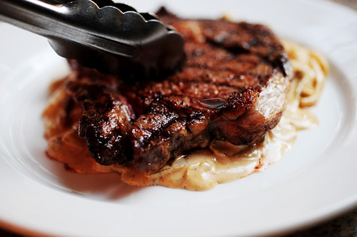 Grilled Ribeye Steak with Onion-Blue Cheese Sauce | The ...