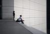 They're Coming (janbat) Tags: woman man paris france 35mm nikon femme staircase f2 d200 nikkor escalier homme ladéfense arche jbaudebert