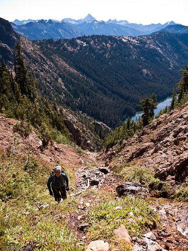 Climbing a streambed