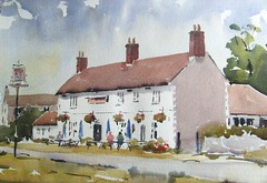 The Three Swallows Pub (melvynswatercolours) Tags: norfolk pubs watercolours blakeney cley morston johnhoare threeswallows johnyardley cleygreen