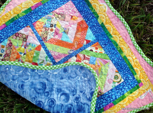 mini quilt with backside